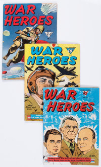 War Heroes Group of 6 (Dell, 1942-44).... (Total: 6 Comic Books)