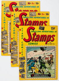 Thrilling Adventures in Stamps Group of 5 (Stamp Comics, 1951-52).... (Total: 5 Comic Books)