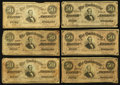 Confederate Notes:1864 Issues, T66 $50 1864, Twenty-Five Examples.. ... (Total: 25 notes)