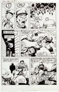 "Original Comic Art:Panel Pages, John Buscema Wolverine #7 ""Mr. Fixit Comes To Town"" Page 25 Hulk Original Art (Marvel, 1989)...."
