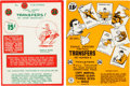"""Memorabilia:Comic-Related, Canadian Comic """"Tattoo Transfers"""" Set Group of 2 (Double A Comics, c. 1940s).... (Total: 2 Items)"""