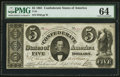 Confederate Notes:1861 Issues, T34 $5 1861 PF-5 Cr. 263.. ...
