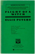 Books:Mystery & Detective Fiction, Ellis Peters. SIGNED/UNCORRECTED PROOF. Flight of a Witch.New York: The Mysterious Press, [1991]....