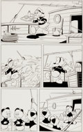 Original Comic Art:Panel Pages, Luciano Gatto - Donald Duck and Nephews Comic Page Original Art (undated)....