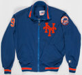 Baseball Collectibles:Uniforms, Late 1980s/Early 1990s Gregg Jefferies Game Worn New York Mets WarmUp Jacket....