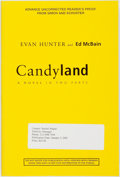 Books:Mystery & Detective Fiction, Evan Hunter and Ed McBain. Candyland: A Novel in Two Parts.New York: Simon & Schuster, [2001]....