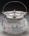 Silver Holloware, British:Holloware, A Garrard & Co. Silver and Cut-Glass Biscuit Jar, Birmingham,England circa 1906. Marks: (passant), g, (leopard's h...