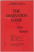 Books:Mystery & Detective Fiction, Clive Barker. UNCORRECTED PROOF. The Damnation Game. NewYork: G. P. Putnam's Sons, [1987]....