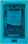 Books:Mystery & Detective Fiction, John Straley. SIGNED/ADVANCE UNCORRECTED PROOF. The Woman WhoMarried a Bear. [New York]: Soho, [1992]....