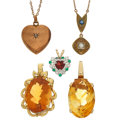 Estate Jewelry:Lots, Citrine, Diamond, Emerald, Garnet, Gold Jewelry. ...