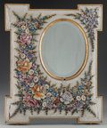 Decorative Arts, Continental:Other , An Italian Glass Canework Mirror Frame, early 20th century. 23-1/2inches high x 19-1/4 inches wide (59.7 x 48.9 cm). ...