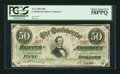 Confederate Notes:1863 Issues, T57 $50 1863 PF-16 Cr. 413.. ...