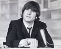 Music Memorabilia:Photos, The Beatles: John Lennon Original Dezo Hoffman Photograph, 1965....
