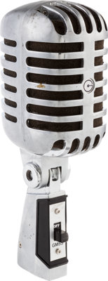 "Cavern Club Microphone with Engraved Identification, of the Shure 55S ""Elvis Mic"" Style"