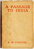 Books:Literature 1900-up, E. M. Forster. A Passage to India. London: Edward Arnold& Co., 1924. First edition. ...