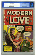"Golden Age (1938-1955):Romance, Modern Love #2 (EC, 1949) CGC FN 6.0 Off-white to white pages.Cover by Al Feldstein and Johnny Craig (as ""F. C. Aljon""). In..."