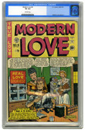 """Golden Age (1938-1955):Romance, Modern Love #4 (EC, 1950) CGC VG 4.0 Off-white pages. """"Scarce""""according to Overstreet. A Gerber """"7."""" Al Feldstein cover. Fe..."""