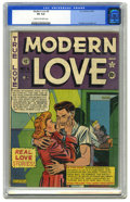 "Golden Age (1938-1955):Romance, Modern Love #6 (EC, 1950) CGC VG 4.0 Cream to off-white pages.""Scarce"" according to both Overstreet and Gerber. Al Feldstei..."