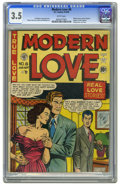 Golden Age (1938-1955):Romance, Modern Love #8 (EC, 1950) CGC VG- 3.5 White pages. Last issue ofthe title. Comic-industry parody with appearances by Bill G...