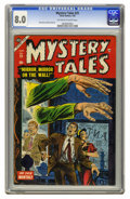 Golden Age (1938-1955):Horror, Mystery Tales #25 (Atlas, 1955) CGC VF 8.0 Off-white to whitepages. Dick Ayers and Don Heck art. To date, this is the highe...