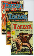 Bronze Age (1970-1979):Miscellaneous, Tarzan Group (DC, 1972-75) Condition: Average VF. The origin ofTarzan by Joe Kubert is the highlight of this group which co...(Total: 24)
