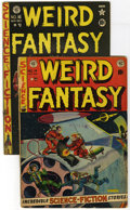 Golden Age (1938-1955):Science Fiction, Weird Fantasy #14 and 16 Group (EC, 1952). This lot of two issuesof EC's Weird Fantasy contains #14 (GD- -- Necronomico... (Total: 2Comic Books)