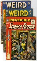 Golden Age (1938-1955):Science Fiction, Weird Fantasy/Incredible Science Fiction Group (EC, 1953-55). Thislot of three EC books contains Incredible Science Ficti... (Total:3 Comic Books)
