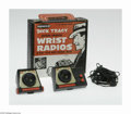Memorabilia:Comic-Related, Dick Tracy Battery Operated Wrist Radios in Original Box (Remco, mid 1950s). Very scarce set includes two plastic senders/re...