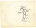 "Animation Art, Walt Disney Studios - ""Mickey's Fire Brigade"" Animation ProductionDrawing Original Art (Disney, 1935). Goofy does some high..."
