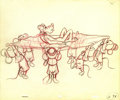 "Animation Art, ""Pluto's Party"" Animation Production Drawing Original Art (Disney,1952). Everyone seems to be having fun except Pluto, in t..."