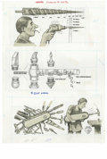 """Original Comic Art:Sketches, Al Jaffee - Mad #289 Illustrations Original Art, Group of 4 (EC, 1989). Frustrated inventor Al Jaffee takes a look into """"The..."""