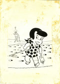 "Original Comic Art:Covers, Warren Kremer - Little Dot Cover Original Art (Harvey, 1967). Justcall her ""Divot Dot,"" as this little scamp makes swiss ch..."