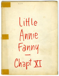 """Harvey Kurtzman - Little Annie Fanny Pencil Preliminaries/Layouts for Complete 7-page Story """"Yuletide One-Upsmanshi..."""