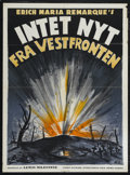 "Movie Posters:War, All Quiet on the Western Front (Universal, 1930). Danish Poster(25"" X 33.5""). War. Directed by Lewis Milestone. Starring Le..."