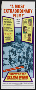 """Movie Posters:War, Battle of Algiers (Allied Artists, 1968). Insert (14"""" X 36"""").Drama. Directed by Gillo Pontecorvo. Starring Brahim Haggiag, ..."""