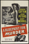 "Movie Posters:Crime, A Blueprint for Murder (20th Century Fox, 1953). One Sheet (27"" X41""). Crime. Directed by Andrew L. Stone. Starring Jean Pe..."
