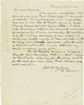 "Autographs:Statesmen, Hannibal Hamlin Autograph Letter Signed ""H. Hamlin"", onepage, 7.75"" x 9.75"", Hampden, Jan. 8, 1841.Addressed to ""ros ..."