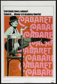 """Cabaret (United Artists, R-1974). One Sheet (27"""" X 41""""). Musical Drama. Directed by Bob Fosse. Starring Liza M..."""