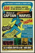 """Movie Posters:Adventure, Captain Marvel (Republic, R-1966). One Sheet (27"""" X 41""""). FantasySerial. Directed by John English and William Witney. Starr..."""