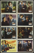 "Movie Posters:Mystery, The Challenge (20th Century Fox, 1948). Lobby Card Set of 8 (11"" X14""). Crime Thriller. Directed by Jean Yarbrough. Starrin...(Total: 8 Items)"
