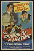 "Movie Posters:Crime, The Chance of a Lifetime (Columbia, 1943). One Sheet (27"" X 41"").Mystery. Directed by William Castle. Starring Chester Morr..."