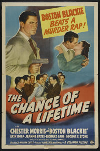 "The Chance of a Lifetime (Columbia, 1943). One Sheet (27"" X 41""). Mystery. Directed by William Castle. Starrin..."
