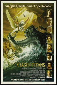 """Clash of the Titans (MGM, 1981). One Sheet (27"""" X 41""""). Advance. Fantasy. Directed by Desmond Davis. Starring..."""