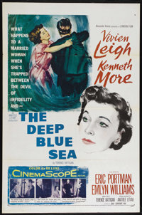 "The Deep Blue Sea (20th Century Fox, 1955). One Sheet (27"" X 41""). Romantic Drama. Directed by Anatole Litvak..."