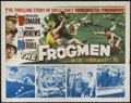 "Movie Posters:War, The Frogmen (20th Century Fox, 1951). Half Sheet (22"" X 28"").Adventure. Directed by Lloyd Bacon. Starring Richard Widmark, ..."