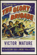 "Movie Posters:War, The Glory Brigade (20th Century Fox, 1953). One Sheet (27"" X 41"").War. Directed by Robert Webb. Starring Victor Mature, Ale..."