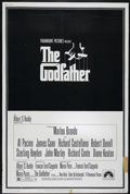 "Movie Posters:Crime, The Godfather (Paramount, 1972). Poster (40"" X 60""). Crime Drama.Directed by Francis Ford Coppola. Starring Marlon Brando, ..."