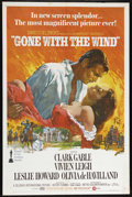 """Movie Posters:Academy Award Winner, Gone With the Wind (MGM, R-1970). One Sheet (27"""" X 41""""). Romantic Epic. Directed by Victor Fleming, Sam Wood and George Cuko..."""