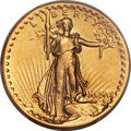 High Relief Double Eagles, 1907 $20 High Relief, Wire Rim -- Mount Removed -- PCGS Genuine. VF Details....