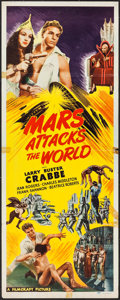 "Movie Posters:Science Fiction, Mars Attacks the World (Filmcraft, R-1950). Insert (14"" X 36""). Science Fiction.. ..."